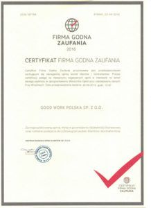 A Trustworthy Company Certificate