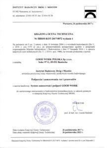 Krajowa Ocena Techniczna IBDiM